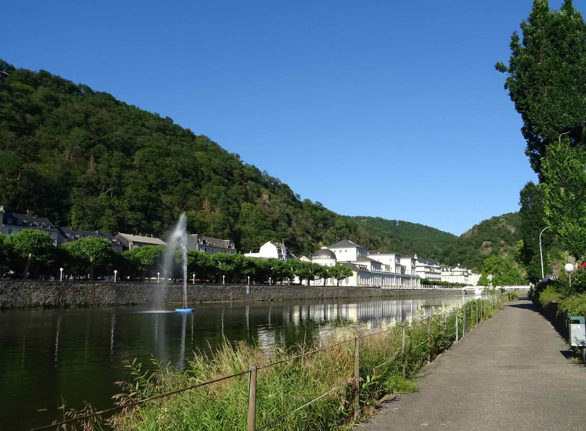 Bad Ems aan de rivier de Lahn