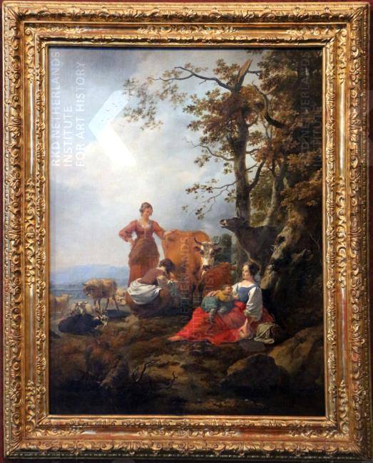 Nicolaes Berchem - Herderinnen met vee