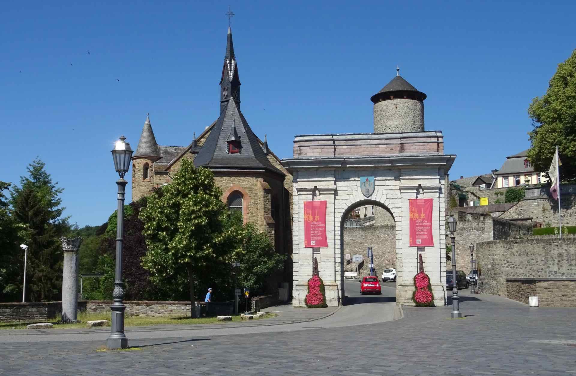De stadspoort van Weilburg