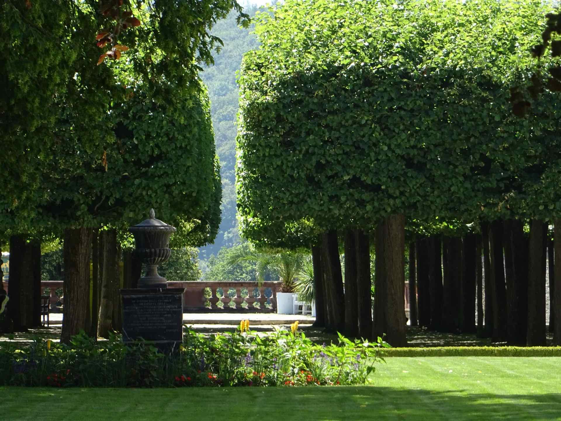 De tuin van Kasteel Weilburg